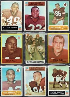 1964 Cleveland Browns NFL CHAMPION VINTAGE ORIGINAL CARD collectible (EX+) #ClevelandBrowns