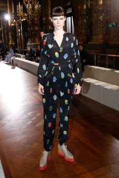 Pin for Later: The Stars Are Flocking to the Front Rows For the Last Day of PFW Coco Rocha Coco Rocha at the Stella McCartney show.