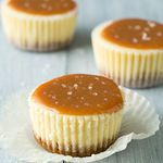 salted caramel mini cheesecakes -  http://www.somethingswanky.com/salted-caramel-desserts/