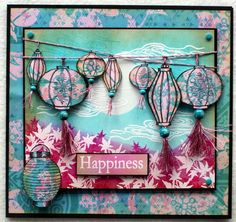 A Little Bit Oriental - Sheena Douglass - Gallery Card Making Inspiration, Making Ideas, Asian Crafts, Sheena Douglass, Crafters Companion Cards, Card Creator, Travel Cards, Scrapbooking, Paper Cards