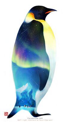 남극의 밤 - 일러스트
