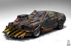 Wasteland Car Concept by Rolf Bertz (1)