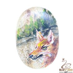 beautiful Pendant Hand Painted Wolf Natural Gemstone bag Accessory ZL803416 #ZL #Pendant