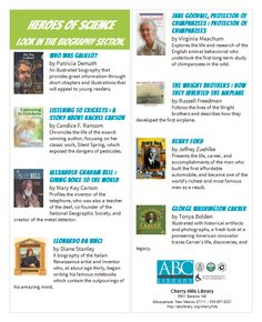 Love the booklist Albuquerque Bernalillo County Library System for Heroes of Science.