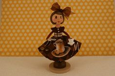 Clothespin Coffee Doll by cottonpickinfun on Etsy, $30.00