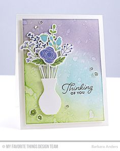 Handmade card from Barbara Anders featuring Beautiful Blooms Card Kit #mftstamps