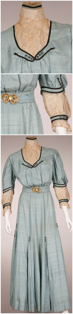 Walking suit, c. 1905. From Stephens College Costume Museum on Pinterest.