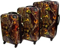 Hit a road in style with #NEW #RealtreeXtra Camo Hard-side Rolling ...