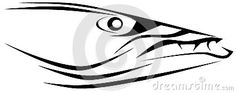 Image representing a barracuda. An idea to talk about this fish. Image that can be used also as logo.