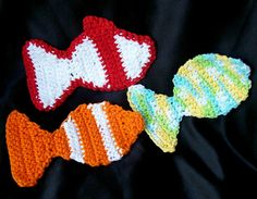Ravelry: Little Kid Fish Washcloth Scrubbies pattern by Pam Daley......free ravelry download