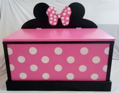 Minnie Mouse Toy Box by SassySisterStuff on Etsy, $220.00