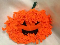 Pumpkin Halloween wreath by Stitchablesuk on Etsy