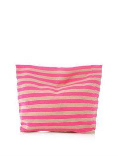 Sophie Anderson Liliana stripe clutch bag