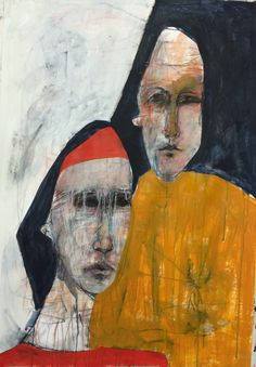 Anthea Polson Art - specialising in contemporary Australian art and sculpture - Featuring work by Veronica Cay - Looking For Sunshine On A Cloudy Day Abstract Portrait Painting, Portrait Art, Figure Painting, Art And Illustration, Australian Art, Art World, Figurative Art, Painting Inspiration, New Art