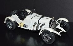 Danbury Mint DieCast Car 1/24 scale 1931 Mercedes-Benz SSKL White #DanburyMint #MercedesBenz