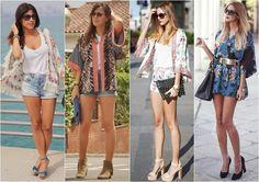 Looks com jaqueta estilo Kimono japonês. Você usaria?  -Shorts