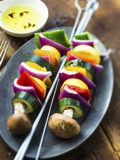 Receta Brochetas de verduras, nuestra receta Brochetas de verduras - Recetas enfemenino