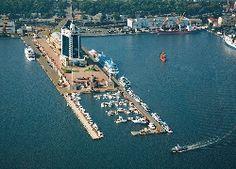 Ukraina, Odessa, Port, Budynki, Statki, Łodzie