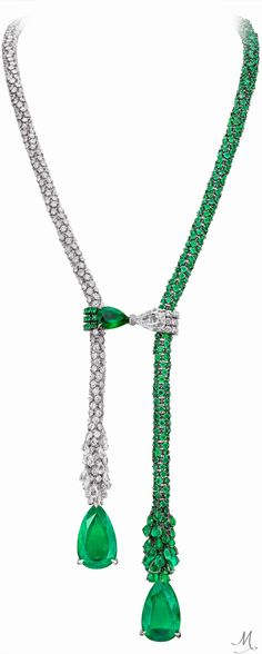 One-of-a-kind Boghossian Masterpieces necklace from the Ballet Oriental collection, set with emeralds and diamonds.