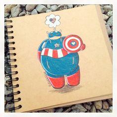 Captain Baymax :) by DeeeSkye on deviantART