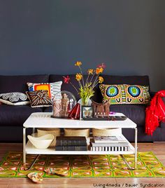 Wohnzimmer The Wall And Sofa Look Surprisingly Nice Living Room Gray, Art  Of Living,