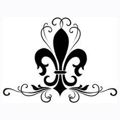 0 images about fleur de lis on rustic art clip clipart Flur De Lis Tattoo, Tattoo Fleur, Clipart, Tatoo 3d, Molduras Vintage, French Typography, Fleur Design, Paisley Design, Paisley Pattern