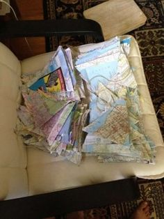 Map Bunting... $37 this is actually really cute!