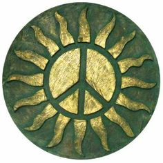 Very Cool Stuff Resin Sun with Peace Sign Wall Decor, Hippie Peace, Happy Hippie, Hippie Love, Hippie Art, Peace On Earth, World Peace, Peace Sign Art, Peace Signs, Peace Sign Tattoos