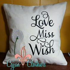 Custom canvas pillow from Cajun Clothiers
