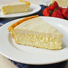 Healthy Cheesecake Recipes for National Cheesecake Day (or Any Day!) - Recipes to Cook - Cheesecake Keto Cheesecake, Crustless Cheesecake Recipe, Healthy Cheesecake Recipes, Desserts Keto, Gluten Free Desserts, Dessert Recipes, Light Cheesecake, Easter Cheesecake, Homemade Cheesecake