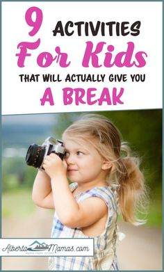9 Activities For Kids That Will Actually Give You a Break - Albertamamas.com Activities To Do, Outdoor Activities, Things To Do At Home, Play Ideas, Cool Kids, Families, Crafts For Kids, Parenting, Canada