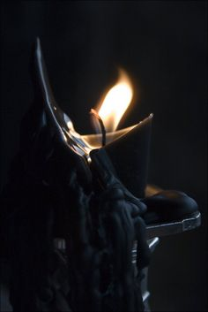 #black #candle #flame #fire #color #photography