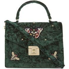 Aldo Durosty velvet shoulder bag ( 65) ❤ liked on Polyvore featuring bags,  handbags, shoulder bags, shoulder hand bags, velvet handbags, flap handbags,  ... 93246710f3