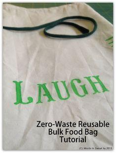 How To Make A Reusable Bulk-Food Bag.