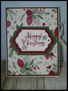 Christmas in July Card Folder with inside pocks for your cards and envelopes. Uses This is Christmas Specialty Designer Paper from Stampin' UP! Detailed instructions and video tutorial on my blog post. Happy Crafting! Dee