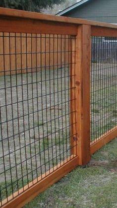 Back yard fencing