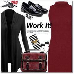 How To Wear WORK IT!! Outfit Idea 2017 - Fashion Trends Ready To Wear For Plus Size, Curvy Women Over 20, 30, 40, 50
