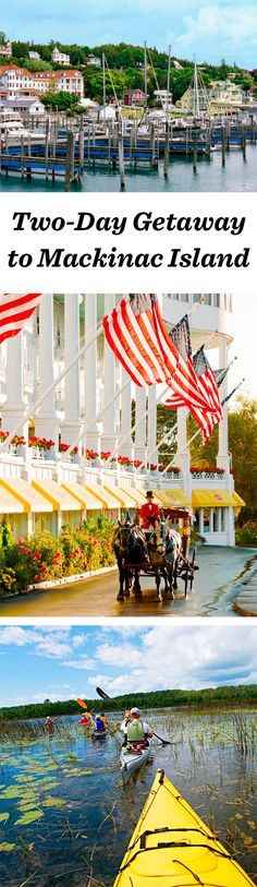 Take a soul-reviving escape on Mackinac Island, the Les Cheneaux Islands and the mainland's Mackinaw City: http://www.midwestliving.com/travel/michigan/two-day-getaway-the-mackinac-region/