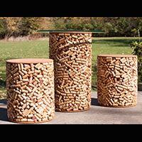 Cork Bistro Table and Stool Set