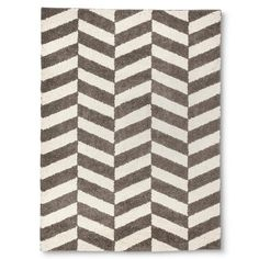Room Essentials™ Herringbone Shag Area Rug - Gray (7'x10')