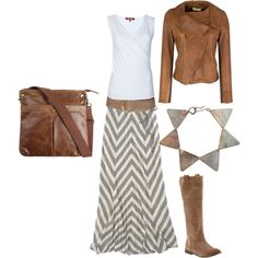 Love grey and brown together - Polyvore