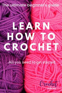 Learn how to crochet. FREE ultimate beginner's guide to crochet - - Learn how to crochet. This free ultimate beginner's guide to crochet will break down the basics of what you need to learn and provide some great resources. Beginner Crochet Tutorial, Crochet Stitches For Beginners, Crochet Video, Beginner Crochet Projects, Crochet Instructions, Knitting For Beginners, Crochet Basics, Beginner Crochet Patterns, Crochet Loop