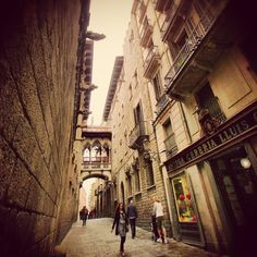 Barrio Gótico de Barcelona Gothic Neighborhood walking through here was the one thing i remember the most