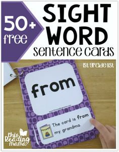 It's time for the next set of sight word sentence cards! Today, it's First Grade Sight Word Sentence Cards. The sight words in this list come directly from my level 3 printable sight word lists. Sight Word Sentences, Teaching Sight Words, Sight Word Practice, Sight Word Games, Sight Word Activities, Dolch Sight Word List, Sight Word Flashcards, Kindergarten Sight Words List, Listening Activities