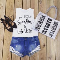 Perfect Spring boating outfit! The Lake Tee | $21 The Travis Shorts | $35 Weekend bag | $25  The Elaine Shoe | $35 Shirt and Shorts come S-L. TO ORDER- Comment below with SOLD your size  and you email address.  #lakelife #sunshine #love #cute  #instagood  #monday #instadaily  #stylebook #fashionaddict  #shoplocal #loveit #musthave #shop  #instafab #iwantthis #style #fashion  #love #beautiful #ootd #wiw #outfits #outfitshare #outfitoftheday #instastyle #instashop #outfitinspiration…