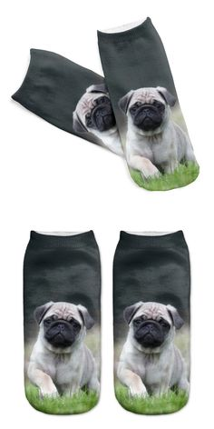 3D Printed Men Cotton Socks Cute Pugs Printed Casual Style Low Anklet Socks For Women Calcetines Chaussettes