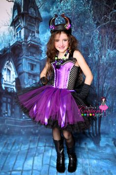 Maleficent inspired tutu dress by SofiasCoutureDesigns