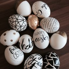 That is how my easter eggs look like this year ;) had to make some new ones since the last years collection is somehow gone ;) #egg #lettering #deco #design
