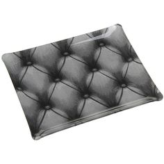 Platex Nouveaux Décors - Capiton Gris Acrylic Tray - 37x28cm (85 CAD) ❤ liked on Polyvore featuring home, home decor, grey, butterfly tray, acrylic tray, gray home decor, butterfly home decor and grey home decor