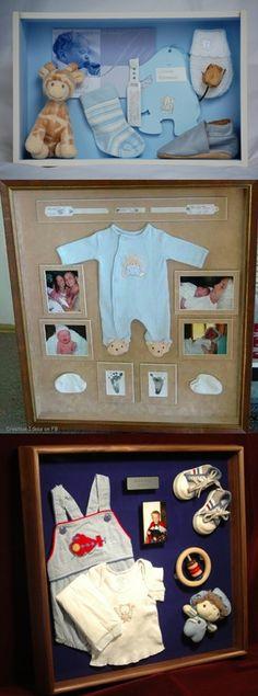 Quadrinhos para preservar as lembranças do bebê.